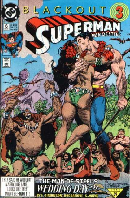 Superman: Man of Steel 6 - Blackout - Black - Kiss - Savages - Volcano