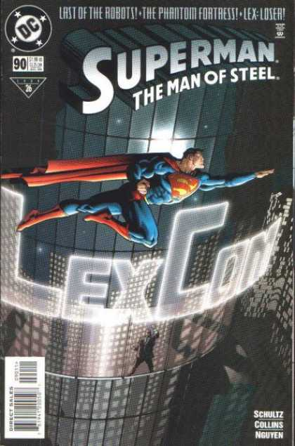 Superman: Man of Steel 90 - Dc - Last Of The Robots - The Phantom Fortress - Lex-loser - Direct Sales