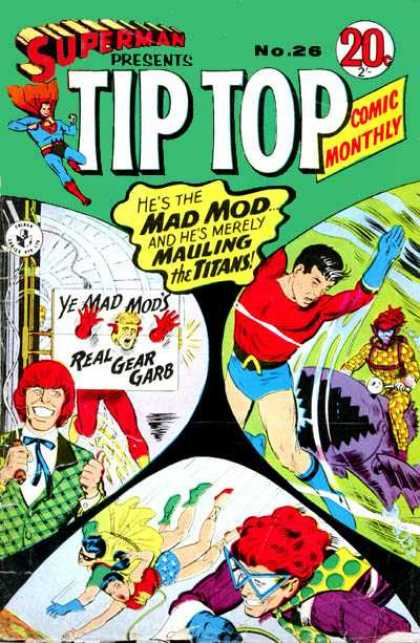 Superman Presents Tip Top 26 - Ye Mad Mods - Redhead - Real Gear Garb - Plaid Jacket - Superhero