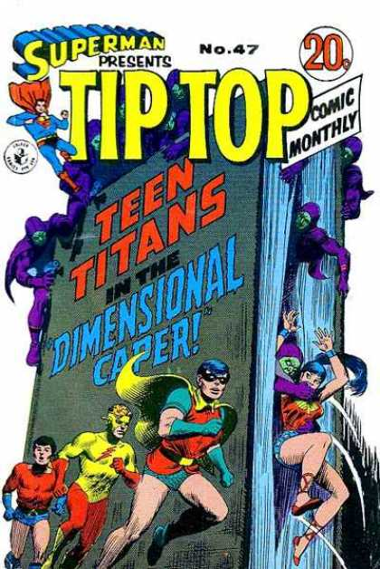 Superman Presents Tip Top 47 - Supermen - Enemy - Robin - Teen Titans In The Dimensional Caper - Comic Monthly