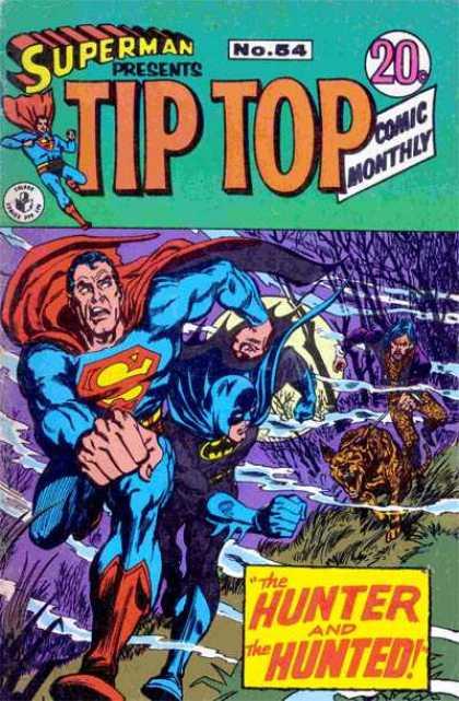 Superman Presents Tip Top 54 - No 54 - Superman - The Hunter And The Hunted - Dog - Batman