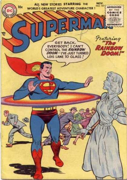 Superman 101 - Rainbow Doom - Superman - Glass Woman - Lois Lane - Crowd Running