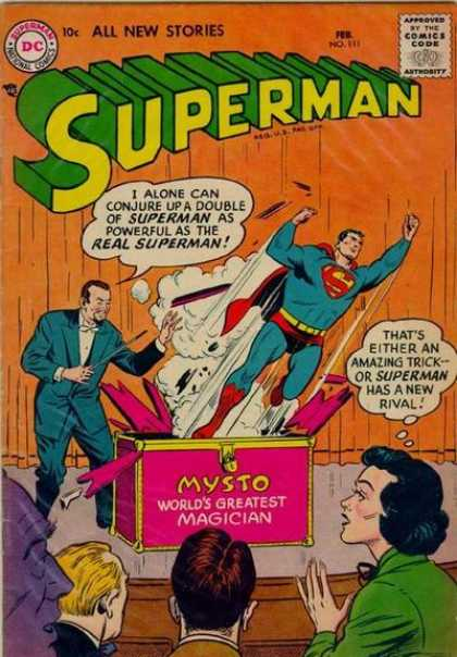 Superman 111 - Mysto Worlds Greatest Magician - No 111 - Audience - Flying - Red Cape