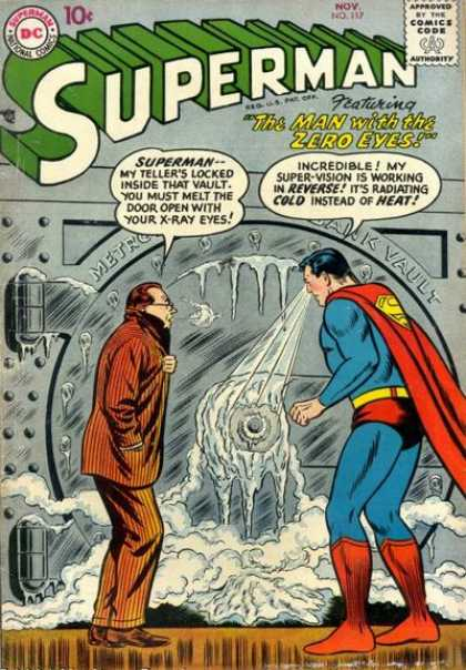 Superman 117 - Safe - Freeze - Bank - Ice - Cold - Curt Swan