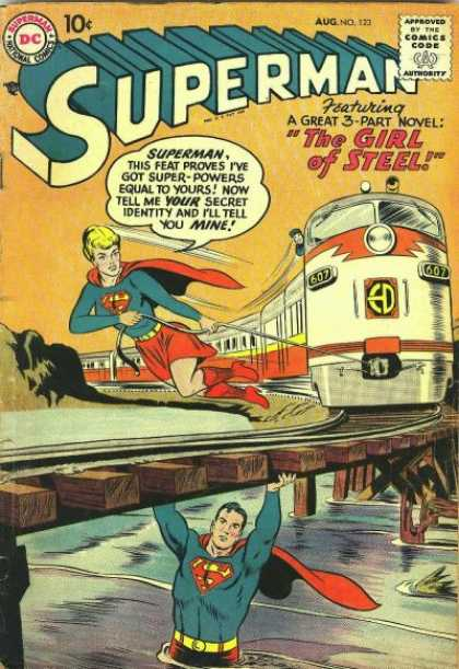 Superman 123 - Girl Of Steel - Super-powers - Superwoman - Secret Identity - Train - Curt Swan