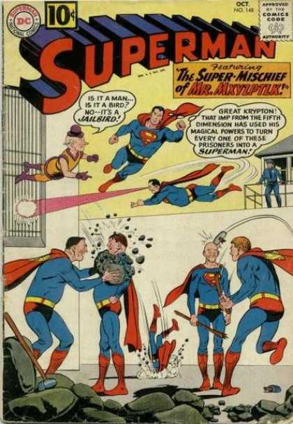 Superman 148 - Attacked - Light - Lounge - Police - One Boy - Curt Swan
