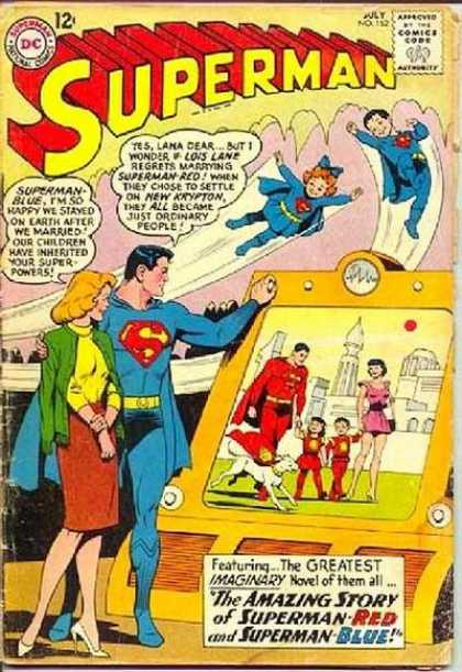 Superman 162 - Superlady Go High - Baby Super Hero - Supermans Successor - The Blue Family - Red And Blue Is Always True