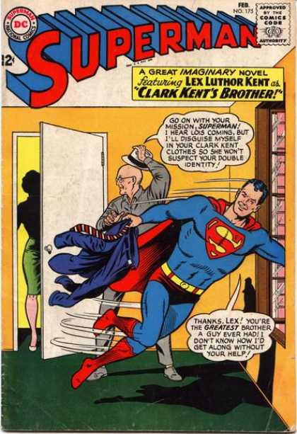 Superman 175 - Door - Superhero - Comic Book - Man - Cape - Curt Swan