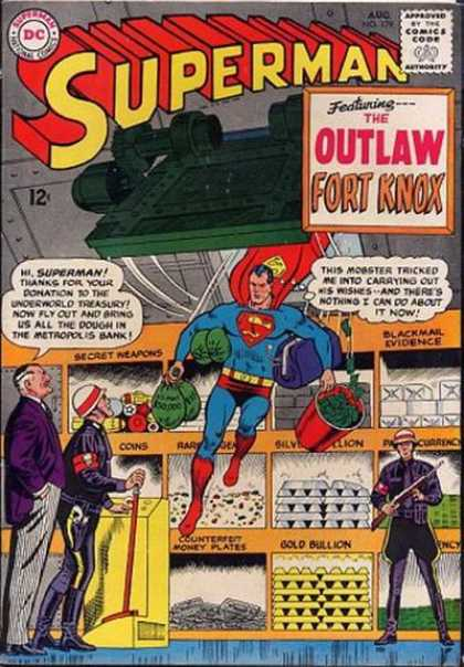 Superman 179 - Comics Code - The Outlaw Fort Knox - Dc - Costume - Policemen - Curt Swan