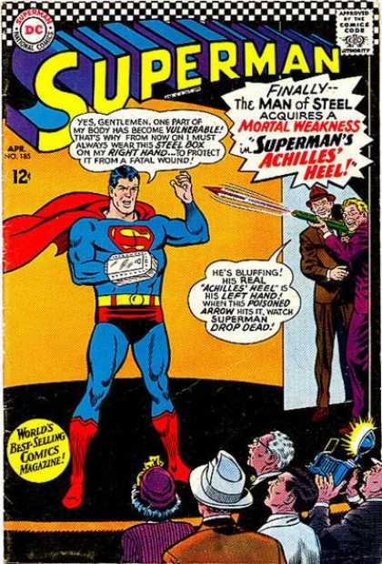 Superman 185 - Arrow - Superman National Comics - Approved By The Comics Code - Superhero - Steel Box - Curt Swan