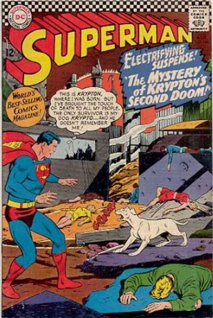 Superman 189 - Super Hero - Planet Krypton - Origin Story - Return To Krypton - Krypto - Curt Swan