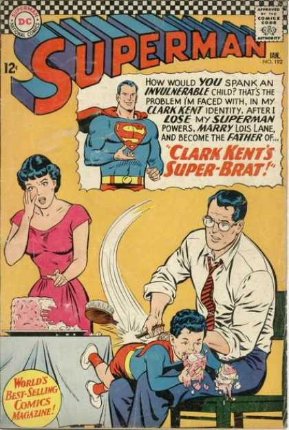 Superman 192 - Superman - Marry Lois Lane - Super Brat - Superman Powerless - Spanking - Curt Swan