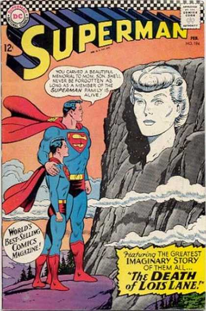 Superman 194 - Death Of Lois Lane - Superheroes - America - Memorial - Stone - Curt Swan
