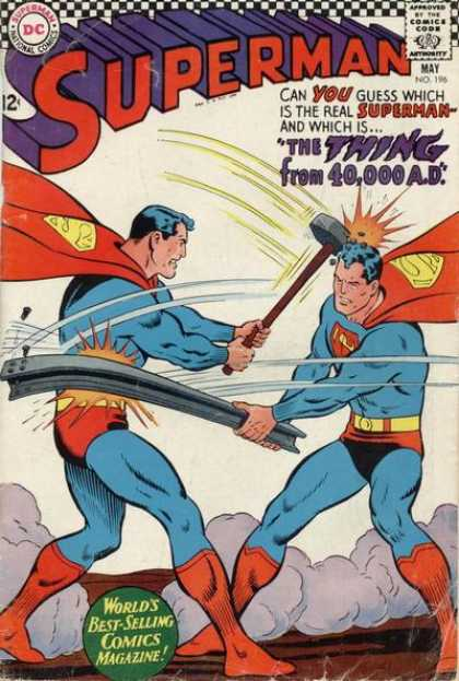 Superman 196 - Thing From 40000 Ad - Up Up And Away - Superman Vs Superman - Superfight - Sledgehammer - Curt Swan