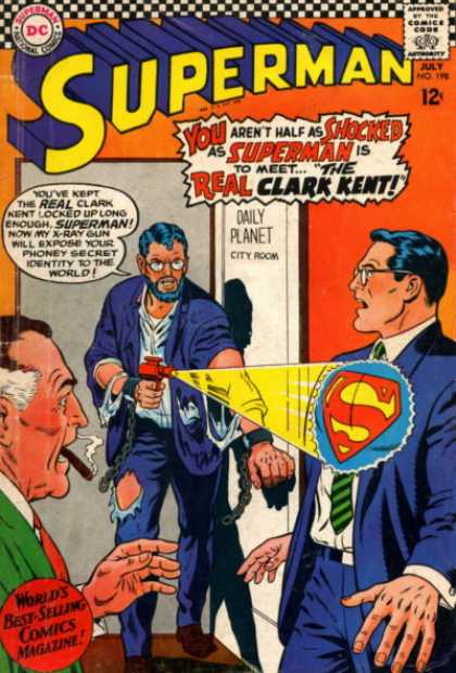 Superman 198 - Cigarette - Men - Clark Kent - X-ray - Daily Planet - Curt Swan