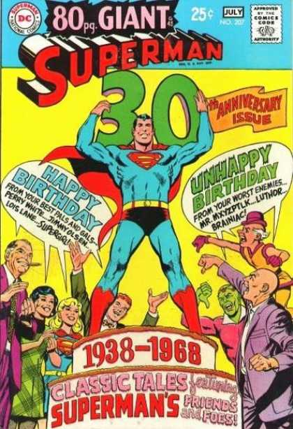 Superman 207 - Lex Luthor - Supergirl - Brainiac - Monstrous Villains - Epic Superheros - Neal Adams