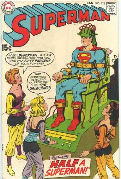 Superman 223 - Half - Fifty Percent - Powers - Galactons - Club - Curt Swan, Murphy Anderson