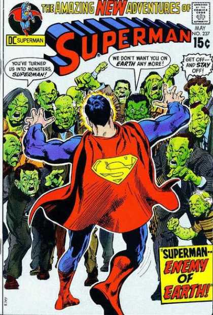 Superman 237 - Superman Enemy Of Earth - Monsters - Dc Comics - New Adventures Of Superman - No 237 - Neal Adams