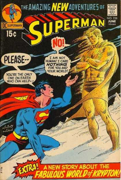 Superman 238 - Superman - Yellow Man - Beg - Dc - World - Carmine Infantino, Murphy Anderson