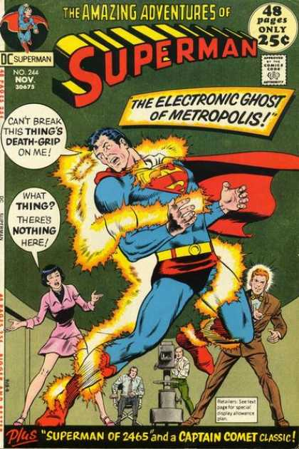 Superman 244 - Electrical Power - Helpless Woman - Unknown - Invisible - Unbelievable - Curt Swan, Murphy Anderson