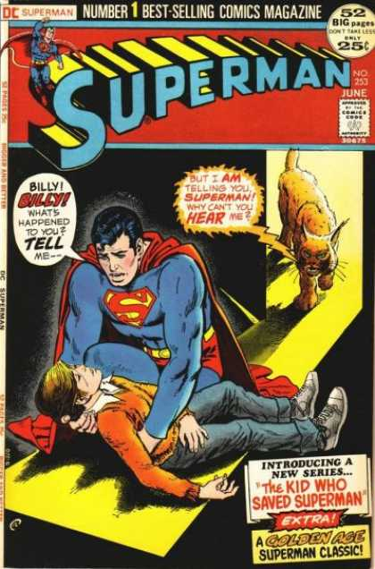 Superman 253 - Superhero - Approved By The Comics Code - Boy - Cat - Billy - Nick Cardy