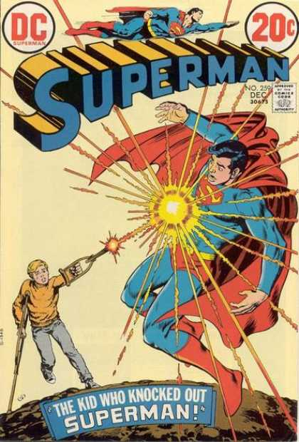 Superman 259 - Crutches - The Kid Who Knocked Out Superman - Dc - No 259 - Cape - Nick Cardy
