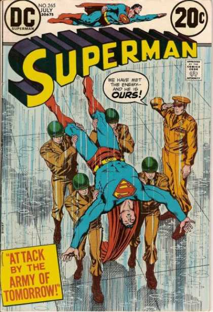 Superman 265 - July - Dc - Enemy - Army - Soldiers - Nick Cardy