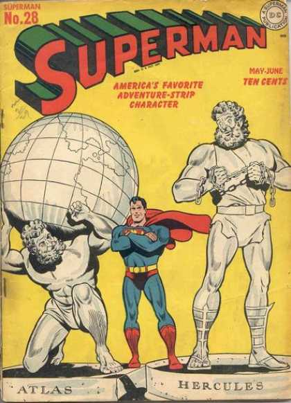 Superman 28 - Atlas - Globe - Chains - Statue - Hercules