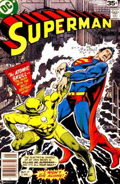 Superman 323 - Atomic Skull - Dc - 35 Cents - Superhero - Man With The Self Detruct Mind