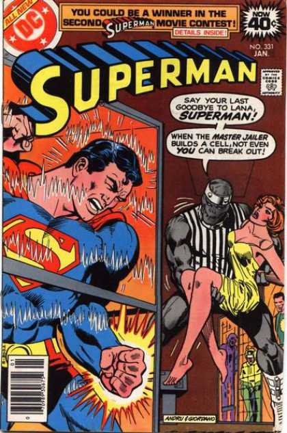 Superman 331 - Superman - Cape - Woman - Building - Fire - Dick Giordano, Ross Andru