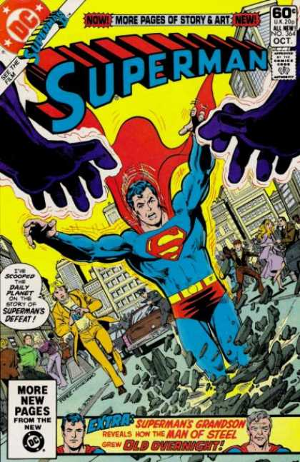 Superman 364 - Defeat - Daily Planet - Grandson - Man Of Steel - Overnight - Dick Giordano, George Perez