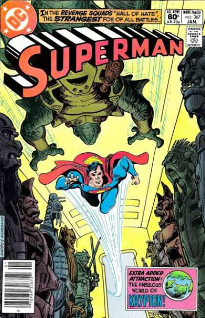 Superman 367 - Revenge Squads - Flying - Cape - Krypton - Robots - Dick Giordano, Ross Andru