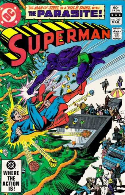 Superman 369 - Yule Duel - Parasite - No 369 - Dc - Christms Tree - Richard Buckler