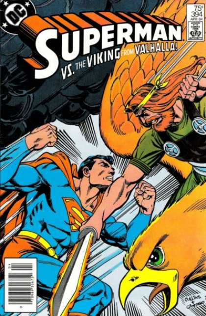Superman 394 - Viking - Eagle - Sword - Valhalla - Bird - Dick Giordano
