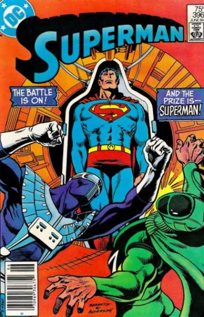 Superman 396 - Battle - Dc - Fight - Green - Super Hero - Eduardo Barreto, Murphy Anderson