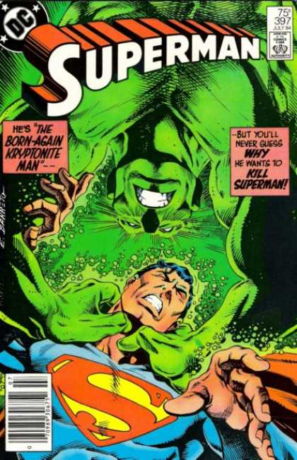 Superman 397 - The Born-again Kryptonite Man - Green With Envy - Choked - Help - The Strangler - Eduardo Barreto