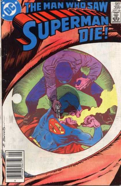 Superman 399 - Gun - Dc - The Man Who Saw Superman Die - Eyeball - Gun Fire - Eduardo Barreto