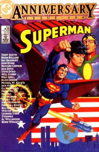 Superman 400 - Rocket - Man - Girl - Flag - Building - Frank Miller, Howard Chaykin