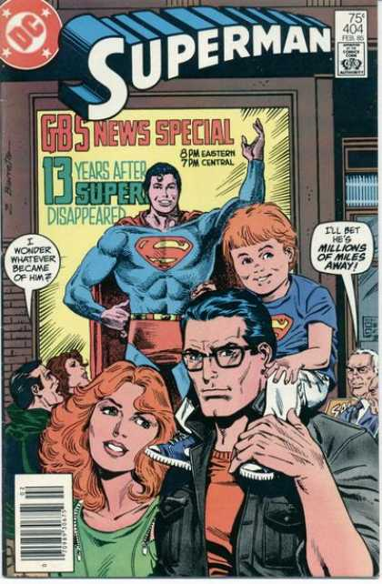 Superman 404 - Approved By The Comics Code Authority - Feb 85 - Gbs News Special - Dc - Spectacle - Eduardo Barreto