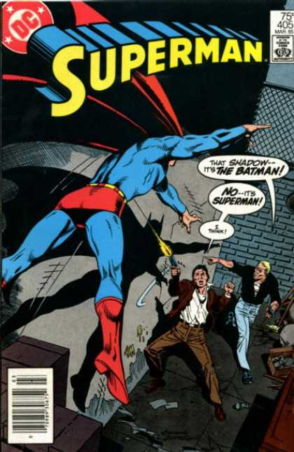 Superman 405 - Approved By The Comics Code - Batman - Gun - Man - Cloak - Eduardo Barreto