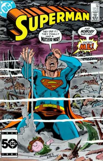 Superman 408 - War - Anquish - Angst - Nuclear - Metropolis - Al Williamson