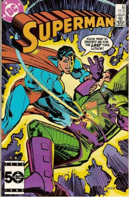 Superman 412 - Superman - Dc Comics - Superhero - Destruction - Save The World - Klaus Janson