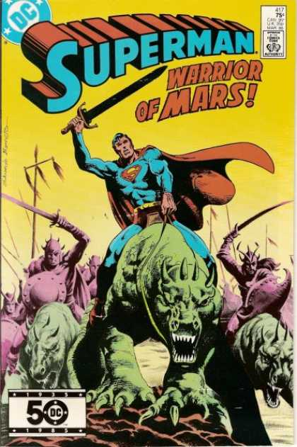 Superman 417 - Sword - Cape - Beasts - Armor - Helmets - Eduardo Barreto