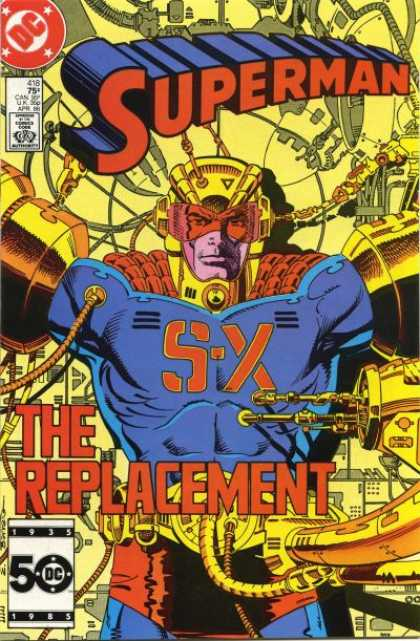 Superman 418 - The Replacement - S-x - Helmet - Tubes To Body - Creating A Substitute - Eduardo Barreto