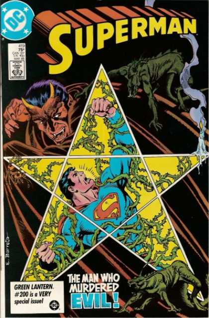 Superman 419 - Stars - Pentagon - Devin - Horns - Vines - Eduardo Barreto