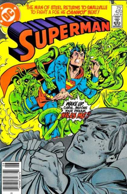 Superman 420 - The Nightmare - Action Packed Adventure - Supermans Last Battle - Sleeping Is Not An Option - Wake Up - Denys Cowan, Dick Giordano