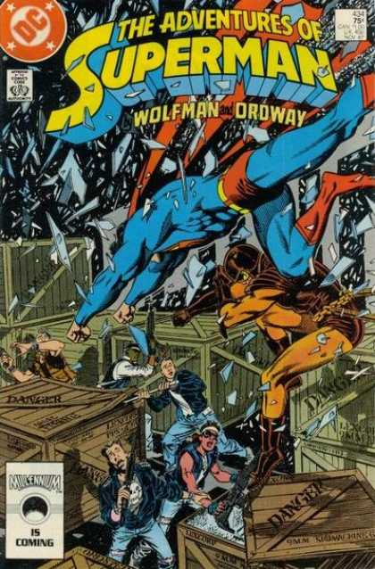 Superman 434 - Wolfman - Ordway - 434 - Danger - Shattered Glass