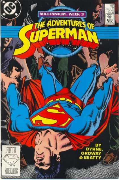 Superman 436 - Carried - Byrne - Ordway - Beatty - Millennium Week 3