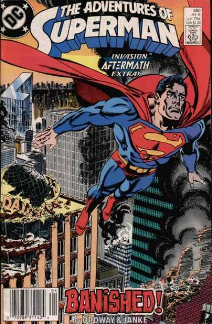 Superman 450 - Invasion Aftermath Extra - Banished - Ordway - Janke - City