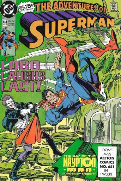 Superman 464 - Lobo - Dc Comics - The Day Of The Kryton Man - Fight - Challenge